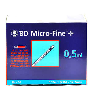 BD-MicroFine 0,5 ml m/kanyle