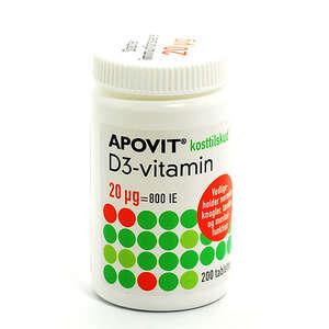 Apovit D-vitamin 20 mikg
