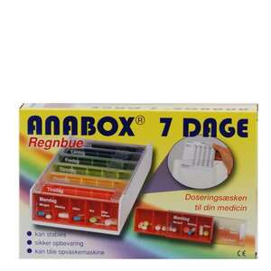 Anabox doseringsæske 1 uge