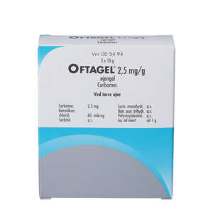 Oftagel øjengel 2,5 mg/ml