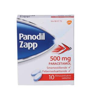 Panodil Zapp 500 mg 10 stk