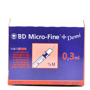 BD Micro-Fine+ Insulinsprøjte 100 stk. 0,50 ml / 0,33mm (29G) x 12,7mm