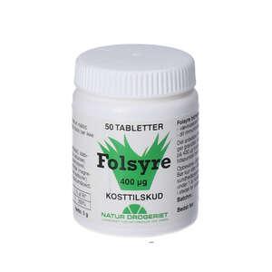 Natur Drogeriets Folsyre tabletter