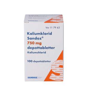 "Kaliumklorid ""Sandoz"" 750 mg 100 stk"