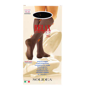 Solidea Relax Unisex 70 Knæstrømpe (sorte str. large)