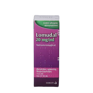 Lomudal øjendråber 20 mg/ml 13,5 ml