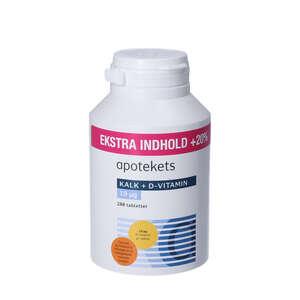 Apotekets Kalk og D-vitamin tabletter (400 mg/19 mikrog) 288 stk