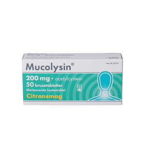 Mucolysin 200 mg 50 stk
