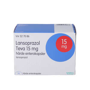 """Lansoprazol """"Teva"""" 15 mg 56 stk"""