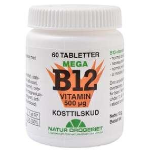 Mega B-12 vitamin tabletter