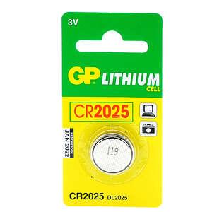 GP Lithium batteri (CR 2025 - 3 V)