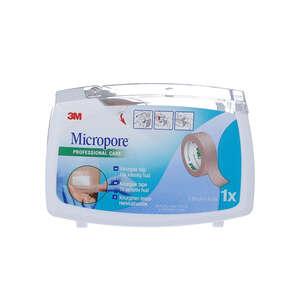 3M Micropore Papirtape m. dispenser (beige, 1,25 cm)