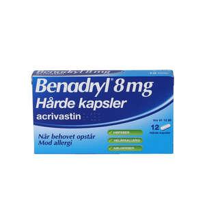 Benadryl 8 mg 12 stk