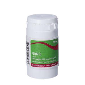 Jern C tabletter (200 stk)