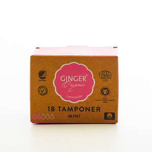 GingerOrganic Tamponer mini (18 stk)