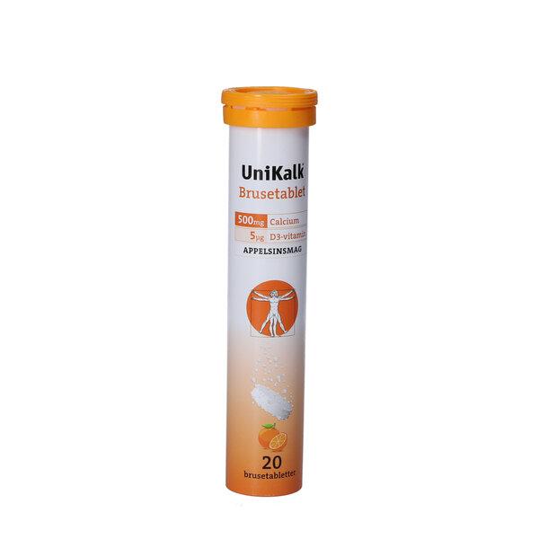 Unikalk Brusetabletter (appelsin)