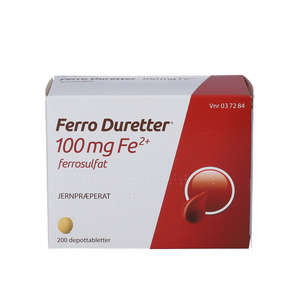 Ferro Duretter 100 mg 200 stk