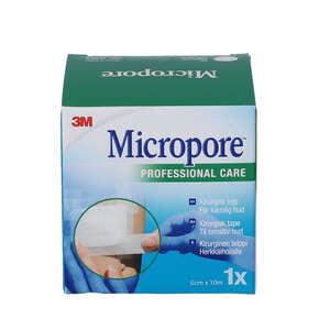3M Micropore Papirtape (hvid, 5 cm)