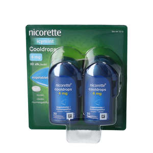 Nicorette Cooldrops 4 mg 4 * 20 stk