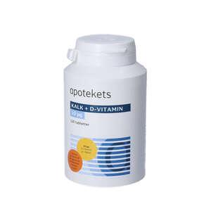 Apotekets Kalk og D-vitamin tabletter (400 mg/10 mikrog) 120 stk