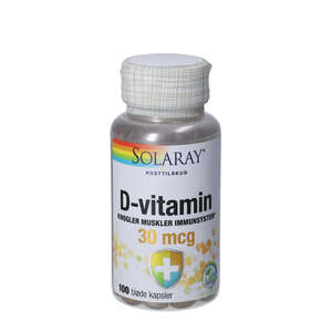 Solaray D-vitamin kapsler