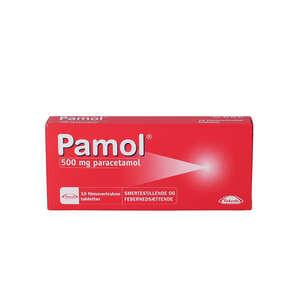 Pamol 500 mg 10 stk