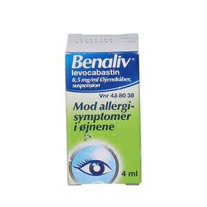 Benaliv øjendråber 4 ml