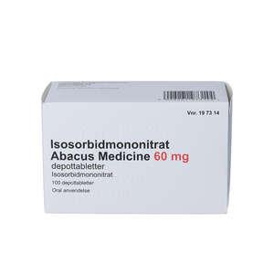 Isosorbidmononitrat (AB) 60 mg 100 stk