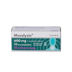 Mucolysin 600 mg Skovbær 10 stk