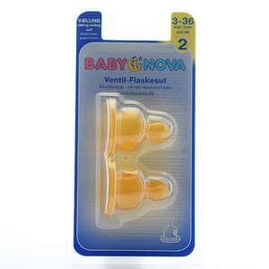 Baby-Nova Flaskesutter (latex - 2 vælling)