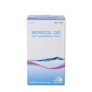 Movicol Go opløsning i breve 10 stk