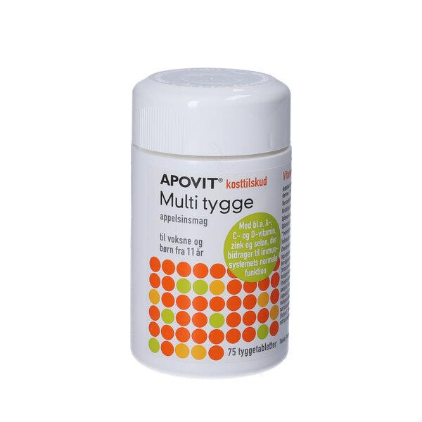 Apovit Multi tygge appelsin (75 stk)