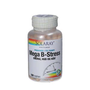 Solaray Mega B-stress kapsler (120 stk.)